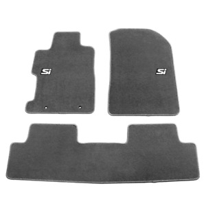 For 06 11 Honda Civic 4dr 2dr Gray Nylon Floor Mats 3pc Front Rear Carpets W Si