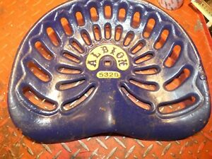 Albion 5329 Vintage Antique Cast Iron Tractor Farm Implement Seat