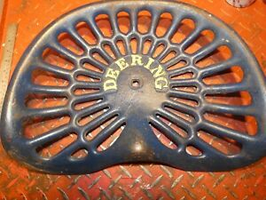 Deering Vintage Antique Cast Iron Tractor Farm Implement Seat