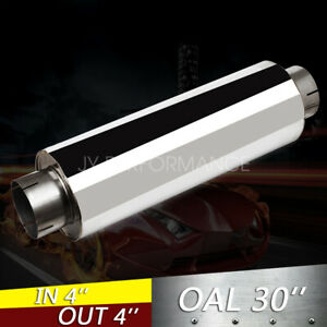 4 T 304 Stainless Steel Performance Diesel Muffler 24 Body 30 Long