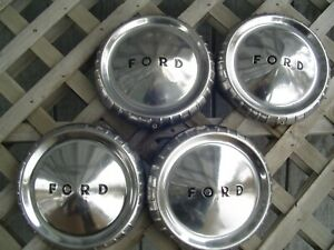 Vintage Fomoco Ford Falcon Ranchero 9 In Hubcaps Wheelcovers Center Cap Antique