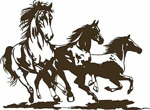 Horse Rodeo Western Horses Stallion Car Truck Window Laptop Vinyl Decal Sticker