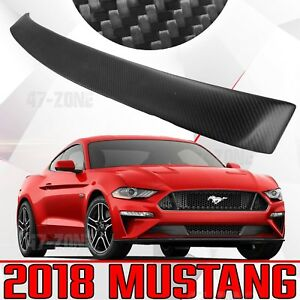 New For 2018 Ford Mustang Real Carbon Fiber Twill Matte Black Window Spoiler