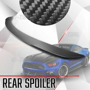 For 2015 2017 Mustang Real Dry Carbon Fiber Spoiler Rear Trunk