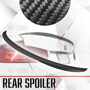 For 2011 18 Bmw 3 Series F30 Real Matte Carbon Fiber Rear Trunk Wing Spoiler Lid