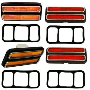 1968 1969 1972 Chevy Truck Side Marker Light Lens Front rear right left 4 Pcs