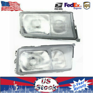 1 Pair Front Right L Side Head Lights For 84 94 Mercedes Benz 190e 190d W201