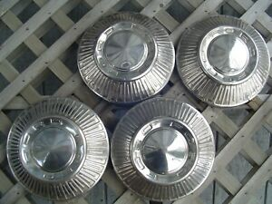 Vintage Ford Galaxie Fairlane Ltd Police Truck Hubcaps Wheel Covers Center Caps