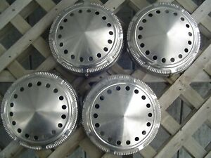 Vintage Plymouth Dodge Chrysler Police Dogdish Hubcaps Wheel Covers Charger