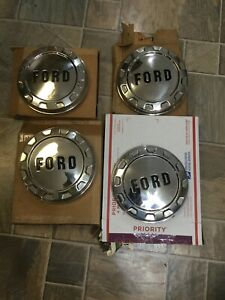 Nos 1961 66 Ford F100 Dog Dish Hubcaps C3tz 1130 A