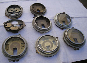 1937 1938 1939 Ford Instrument Panels For Parts Or Restore 8 Partial Clusters