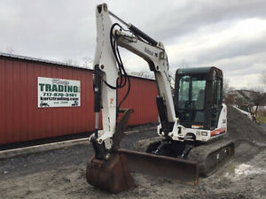 2002 Bobcat 341d Hydraulic Mini Excavator W Cab Thumb Only 2800 Hours