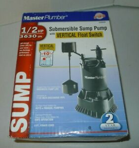 Master Plumber 1 2 Hp Submersible Sump Pump Cast Iron Construction New