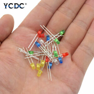 3mm 5mm Diameter Led Light Emitting Diode Lamps 100pcs Kit For Car Ad Decor 768