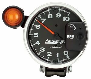 Auto Meter Autogage Tachometer Guage 5 W Shift Light 10000rpm Black