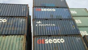 20ft Standard Shipping Container Conex Box Storage Chicago Pick Up Sale Wind Wwt