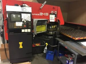 Amada Aries 245 Punch Press 20 Stations Thick Turret With Auto Index