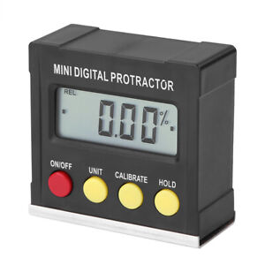 Small Mini Digital Inclinometer Level Electronic Protractor Angle Gauge Meter
