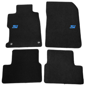 For 12 13 Honda Civic Coupe Black Floor Mats Front Rear Carpet Nylon W Si Decal