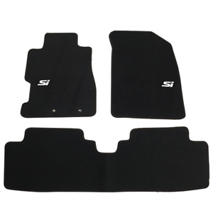 For 01 05 Honda Civic 4dr 2dr Black Anti slip Floor Mats Nylon Carpets Set W Si