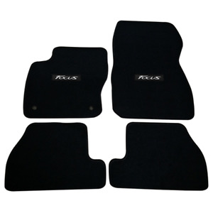 For 06 11 Honda Civic Front Rear Floor Mats Black Nylon Non slip Carpets W Si