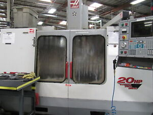2000 Haas Vf 3 Cnc Mill Vertical 40 x20 Milling 4th axis Ready 20hp 32 atc