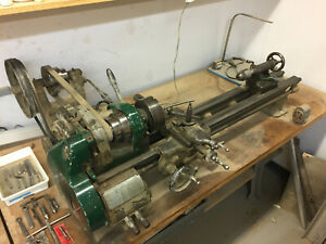9 Inch South Bend Precision Lathe Model A Good Working Condition W Some Tooling