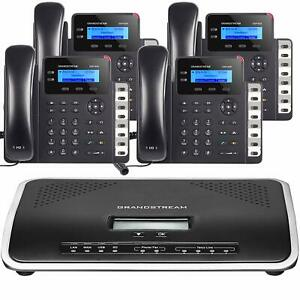 Business Voip Phone System Grandstream Starter Package Free Phone Service 1 Year