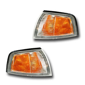 Fits 97 02 Mitsubishi Mirage Coupe Left Right Signal Parking Light Assembly Pair