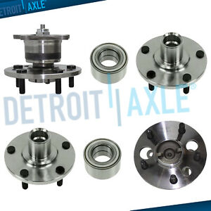 Front rear Wheel Bearing Hub Set For 1992 2001 Toyota Camry Solara 4 Cyl No abs