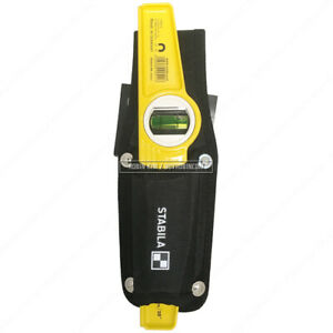 Stabila 81sm Die Cast Magnetic Torpedo Level 25cm 10 With Holster