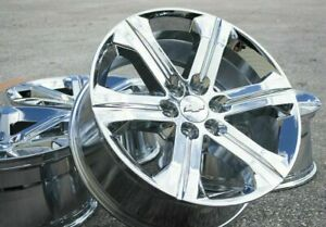 Sierra Yukon Wheels Silverado 5667 Tahoe 22 Chrome Chevy Gmc Denali Rims Ck157