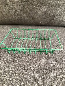 Vintage Child S Doll Antique Primitive Green Metal Wire Dish Drying Rack Rustic