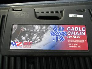Scc Tire Cable Chains Sc 1038 Brand New 14 15 16 17 18 S Clearance Usa