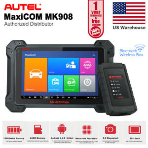 Autel Maxicom Mk908 Wireless Diagnostic Auto Scan Tool Maxisys Ms908p Ms906 Bt
