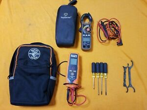 Lot Of Klein Tools Tough Meter Screw Drivers Gb Wrenches Voltage Detector