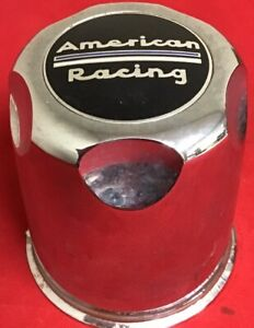 One Used American Racing Chrome Cap F104 04 Wheel Center Cap 6136