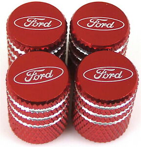 4x Ford Tire Valve Stem Caps For Car Truck Universal Fitting red