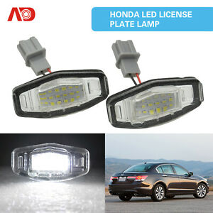 For Honda Accord Civic Acura Tsx Tl Ilx Complete Smd Led License Plate Light 2x