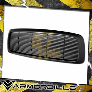 For 2002 2005 Dodge Ram 1500 Abs Replacement Horizontal Grille Matte Black