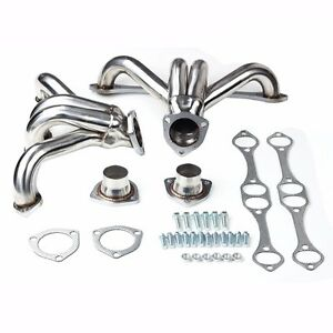 Fit Chevy Small Block Sb V8 262 265 283 305 327 350 400 Stainless Hugger Headers