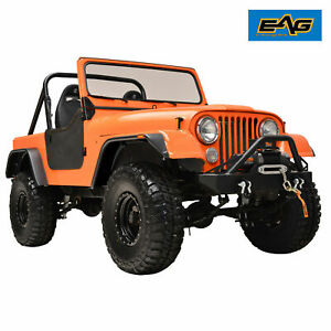 Eag Fender Flares Abs Flat Style Wide Body Fit 59 86 Jeep Wrangler Cj5 6 7