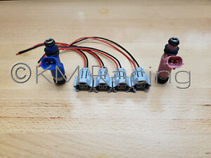 4x Fuel Injector Connector Quick Disconnect Pigtails For Subaru Top Feed