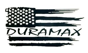 Duramax Distressed Us Flag Sticker For Truck Suv Car Window Bumper Wall Laptop