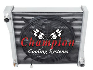3 Row Cold Champion Radiator W 16 Fan For 1941 Jeep Willys cc41wlb