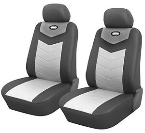 Car Seat Covers Cushion 2 Front Gray Leather Like Toyota Tacoma 802