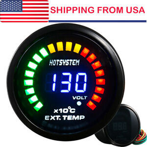 2 In Led Digital Analog Exhaust Gas Temperature Temp Gauge Egt Smoke Lens Us