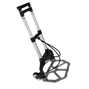176 Lbs Aluminium Luggage Cart Folding Dolly Push Truck Hand Collapsible Trolley