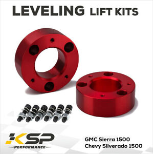 3 Front Leveling Lift Kit For 2007 2021 Chevy Silverado Gmc Sierra 1500 Red