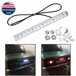Universal License Plate Mount Led Back Up Light For Car Suv Truck Rv White red